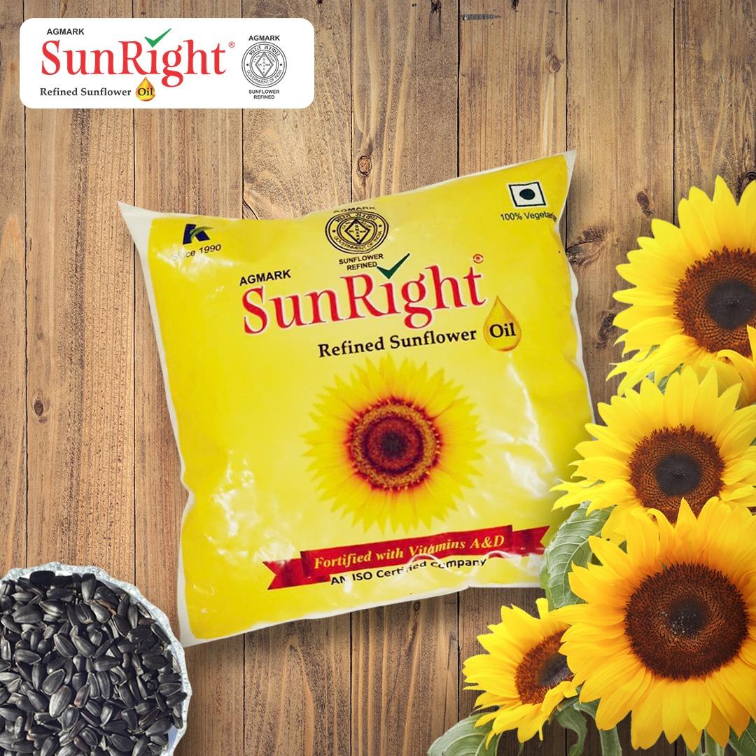 Sunright Refined Sunflower Oil 500 ml PET Bottle