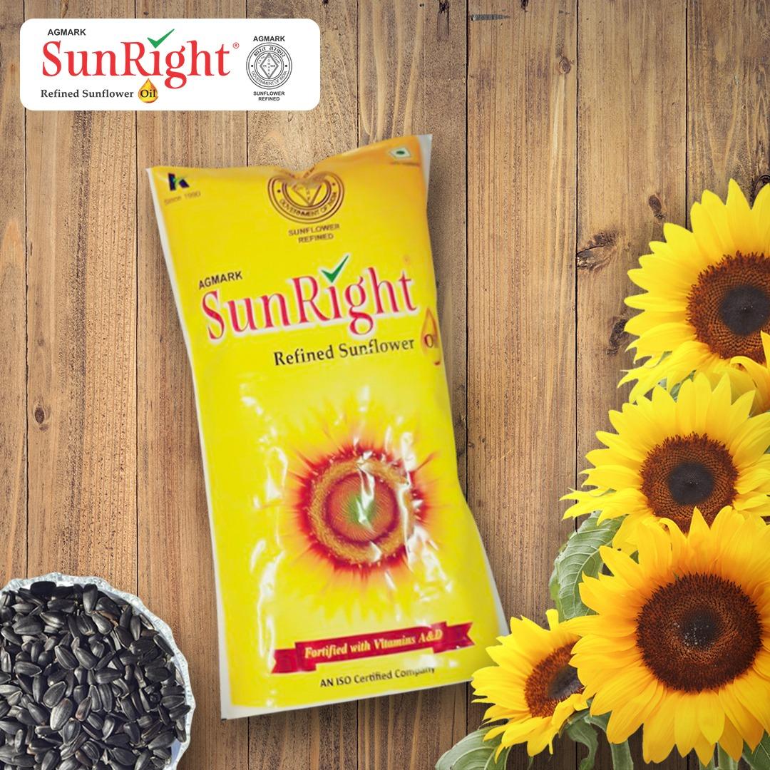 SunRight Refined Sunflower oil 500 gms