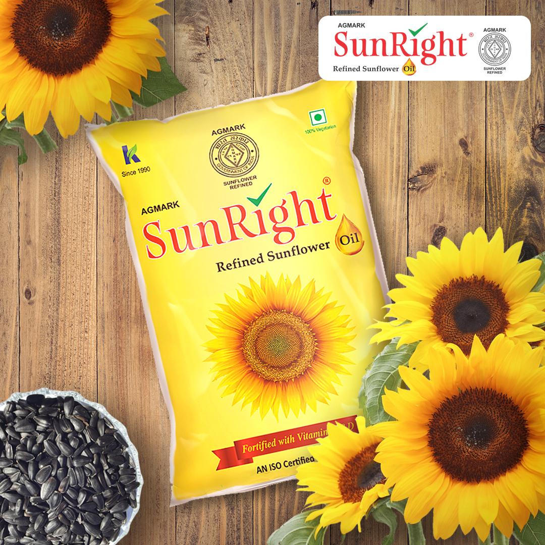Sunright Refined Sunflower Oil 1 Litre Pouch Bottle